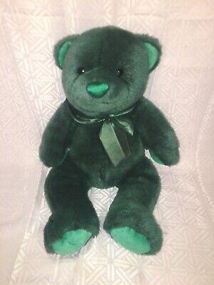 "VGUC-12"" Kids Preferred Green So Huggable Teddy Bear Plush Stuffed -"