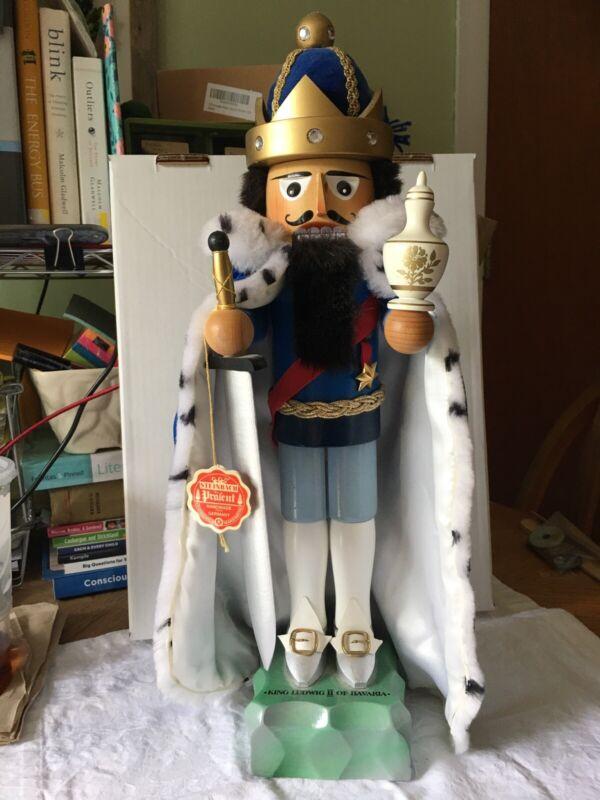 STEINBACH King Ludwig II of Bavaria NUTCRACKER Wooden Figure Germany
