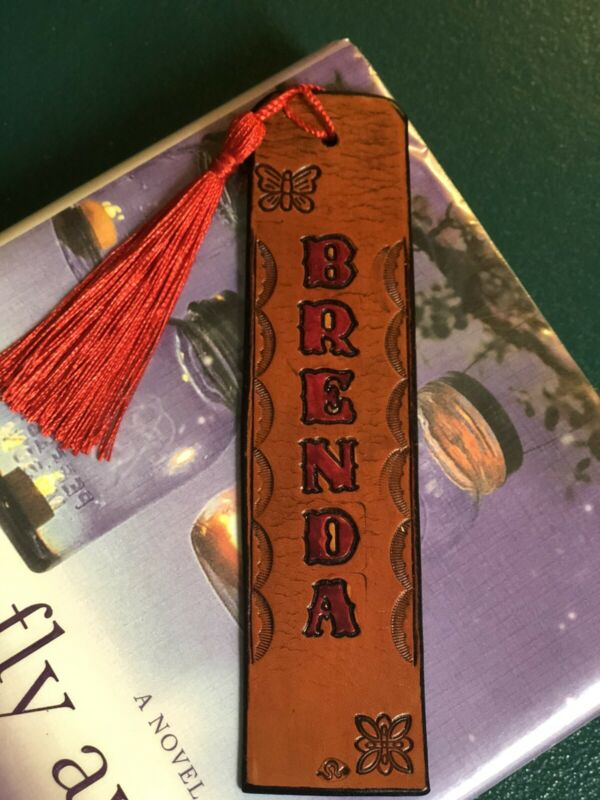 Personalized Leather Bookmark, Handmade, Gift