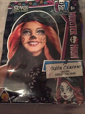 Monster High Skelita Calaberas Halloween Child Girls Wig - Monster High Skelita Halloween Kostüm