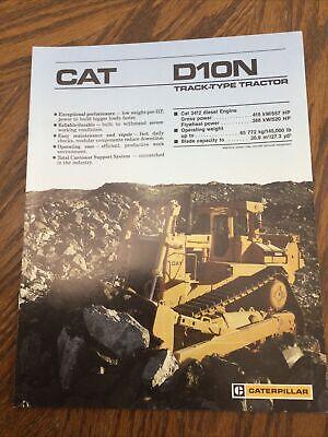 Cat Caterpillar D10n Bulldozer Brochure