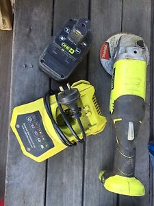 Ryobi cordless grinder+battery+charger Heatherbrae Port Stephens Area Preview