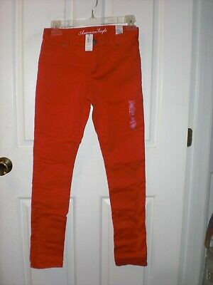 America Eagle 77 Kids Size 14 slim Red Jeggings Pants NEW