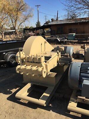 Ingersoll-rand Triplex Plunger Pump With Alumimum Bronze Fluid End 4hs 3p