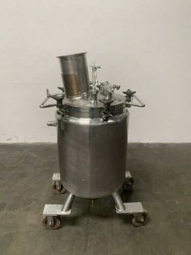 LEE 100 Liter Stainless Steel Jacketed Reactor w/ Agitator 30 PSI