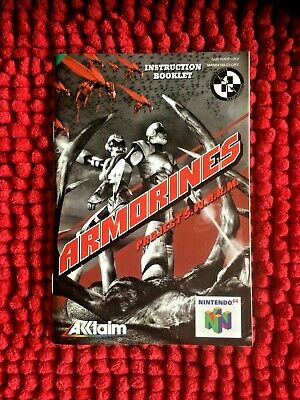 Armorines - Project S.W.A.R.M**Official n64 Instruction Manual Only