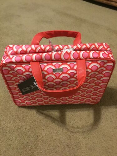 Luxe Willow Weekender Travel Bag Toiletries Large Red White New 4 Ship - $11.50