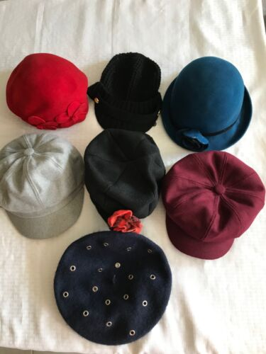 Lot of 7 women's hats in a variety of fun styles
