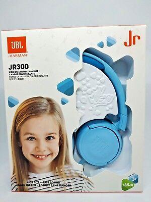 JBL JR300 Kids Junior On Ear Headphones With Safe Sound best BLUE Ship Same