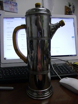 Farber Bros Krome Kraft Coffee Tea Serving Pot Vintage Chrome Bakelite