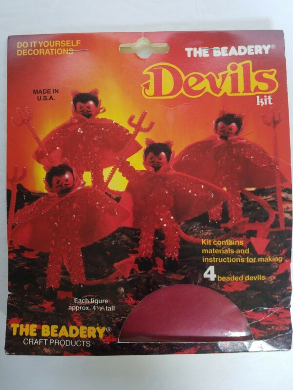 The Beadery Craft Products Devils Kit Makes 4 Halloween Holiday Decorations