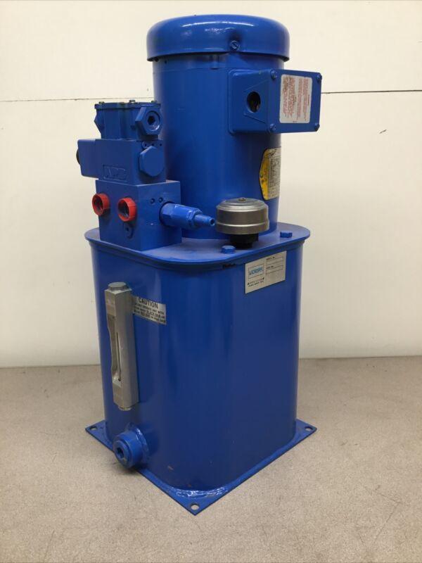 NEW Vickers 02-150794 Hydraulic Power Unit - 1 HP - 208-230/460 V - 3 Phase