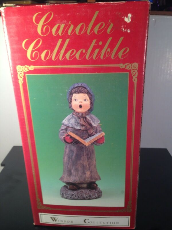 "Vtg 10"" Collectible Carolers Winsor Christmas Caroler Collection Woman & Cap"