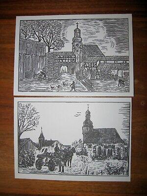 2 Stück AK Künstlerkarten Postkarten Ansichtskarten E. Aulitzky