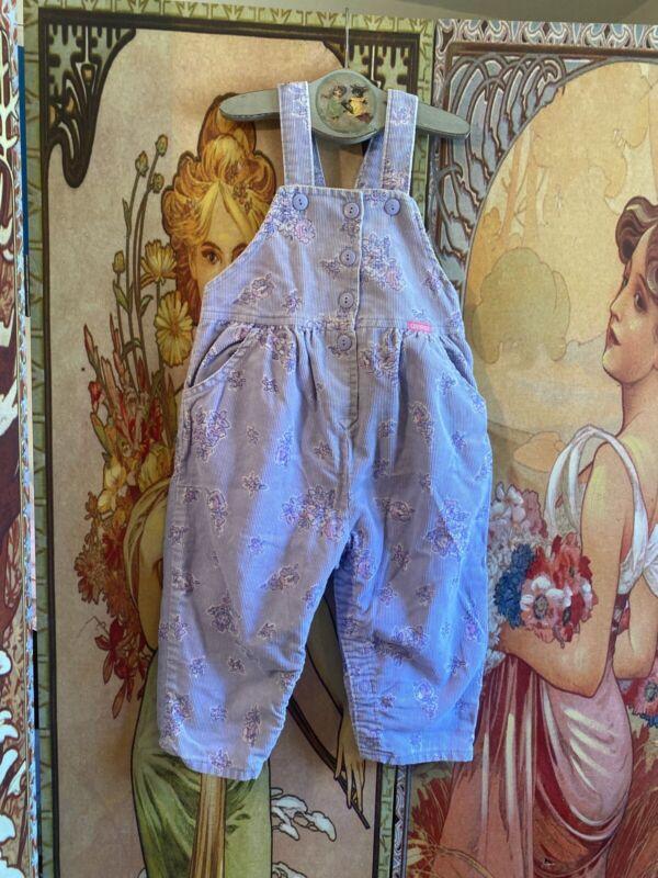 Vintage Baby Child Oshkosh Bgosh Vestbak Lavander Bubble Overalls Made In USA 3T