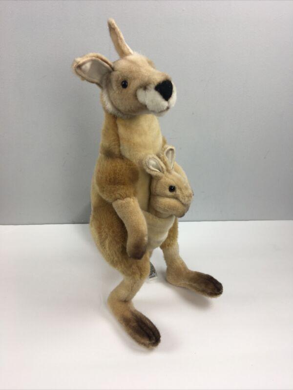 "Hansa Kangaroo Plush 18"" Joey Pouch Freestanding 2004 Stuffed Toy"