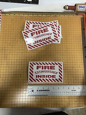 Fire Extinguisher Inside 7 Inch X 4.25 Inch Vinyl Adhesive Safety Sticker