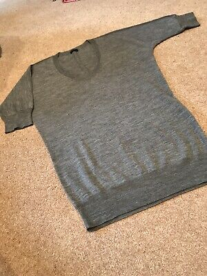 Womens Joseph Grey Merino Wool Short Sleeved Jumper Size Medium