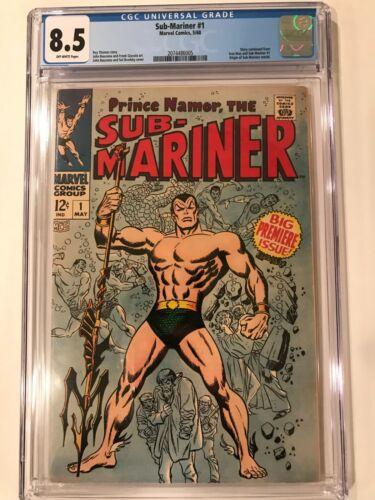 Sub-Mariner #1 ~ CGC 8.5 ~ Origin retold; Marvel Comics; 1968 MCU HOT Key