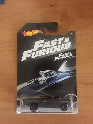 Hot Wheels Fast and Furious '70 Chevelle SS 2/6 Dark Grey Diecast Car