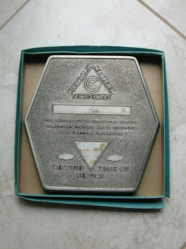 Chevrolet Certified Technician Hexagon Metal Plaque