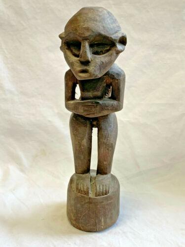African Vtg Carved Wood Tribal Statue Fetish Figure Sculpture Man Home Decor