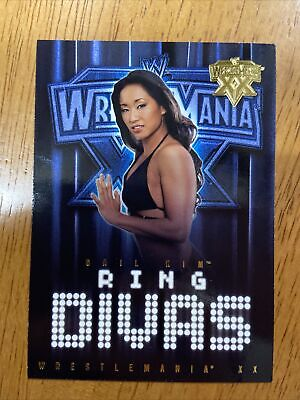 WWF WWE 2004 Fleer Wrestlemania XX Gold Parallel Card Ring Divas Gail Kim Hot