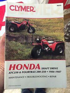 Honda ATC250 & 200-250 Fourtrax Service Manual