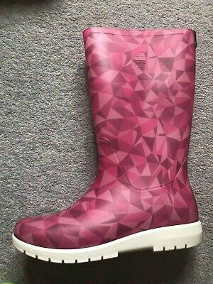 Kamik Pink size UK 5 (US7) Jessie wellie
