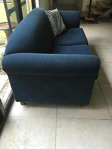 2.5 seater sofa. Navy blue. Solid construction. Stirling Stirling Area Preview
