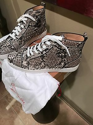 100% AUTHENTIC CHRISTIAN LOUBOUTIN PYTHON SNEAKER sz46 (US13) RARE & LIMITED