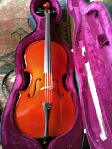 New Deluxe Student Plus 1/4 Size Cello With Bow + Hard Case rrp £323