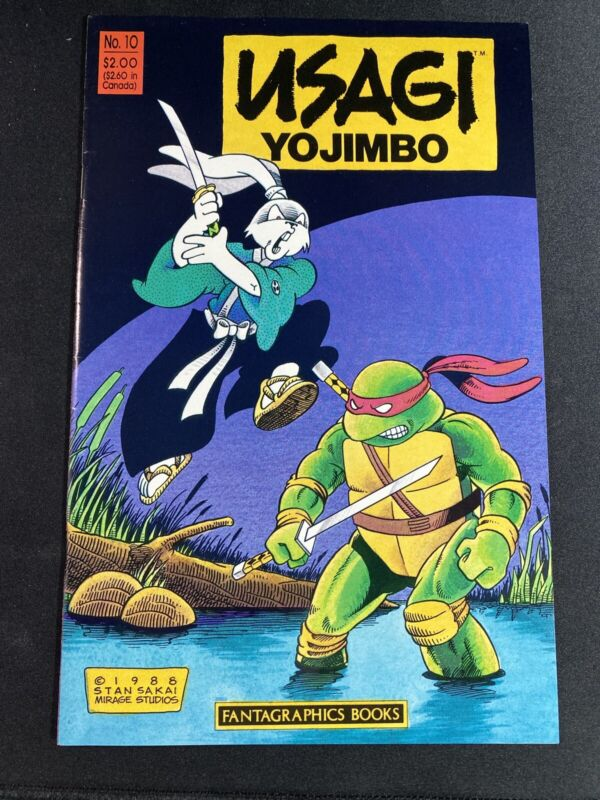 Usagi Yojimbo #10 1988 Fantagraphics - 1st print - Leonardo TMNT & Jei-san