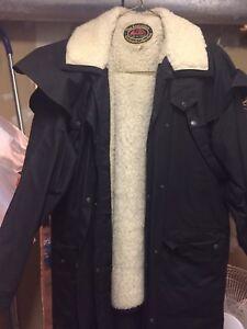 Equine oilskin coat