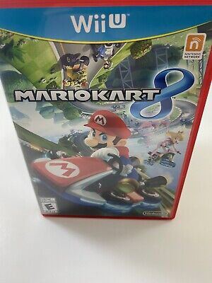 Mario Kart 8 Nintendo Wii U Disc Case Manual Tested Working