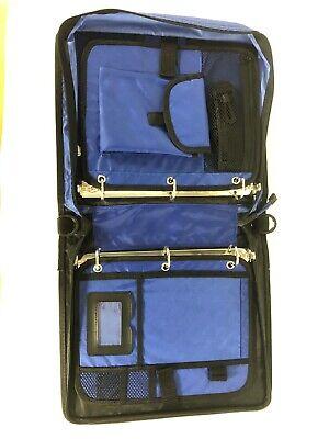 Case It 3 Right Binder 1- Blueblack Binder Zipper Strap Pockets.