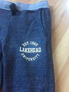 Lakehead University grey sweat pants. Size XS
