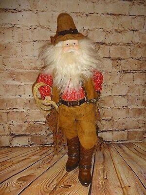 Christmas Holiday Cowboy Doll Figure Santa Claus Western Decoration 21