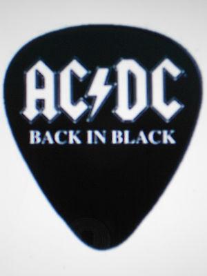 AC/DC BACK IN BLACK LOGO 4 GUITAR PICK SET NEW