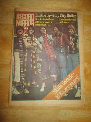 Record Mirror Music Paper April 10 1976 Slade Bay City Rollers Eagles Abba
