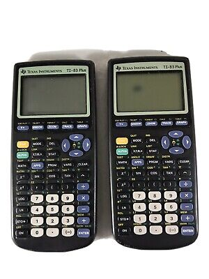 Lot Of 2 Texas Instruments TI-83 Plus Graphing Calculators Tested And Working
