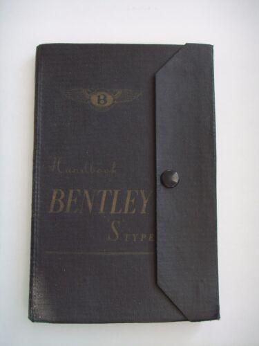 Vintage Bentley S Type Original 1931 Handbook Manual Car Owner Instruction Book