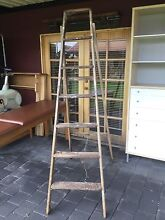 Old wooden ladder 2.1m PROP ONLY Kewdale Belmont Area Preview