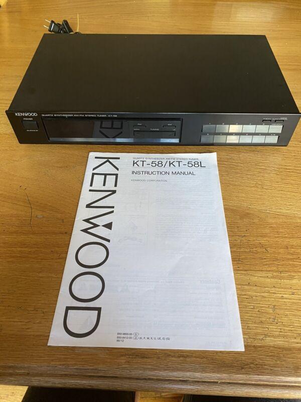 Kenwood KT-58 Quartz Synthesizer AM/FM Stereo Tuner