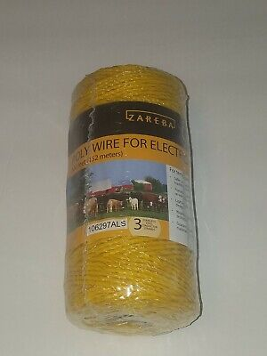 Zareba Poly Wire For Electric Fencing 500 Feet 152 Meters New Sealed 106297als