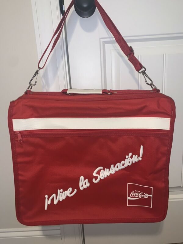 RARE VINTAGE Large Disfruta Coca-Cola Insulated Cooler Bag Perfect Condition
