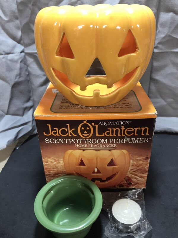 Aromatic's Jack O' Lantern Scentpot New Open Box