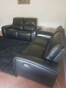 EX DISPLAY PLUSH SPENCER ELECTRIC MOTION RECLINER SOFA