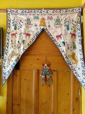 VINTAGE EMBROIDERED INDIAN DOOR HANGING
