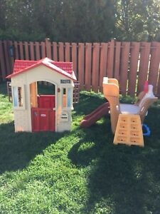 little tikes playhouse and step 2 climber